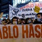 مواجهات بين الشرطة ومتظاهرين في إسبانيا
