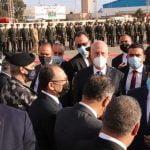 مراسم استقبال قيس سعيّد في مطار معيتيقة الدولي بطرابلس