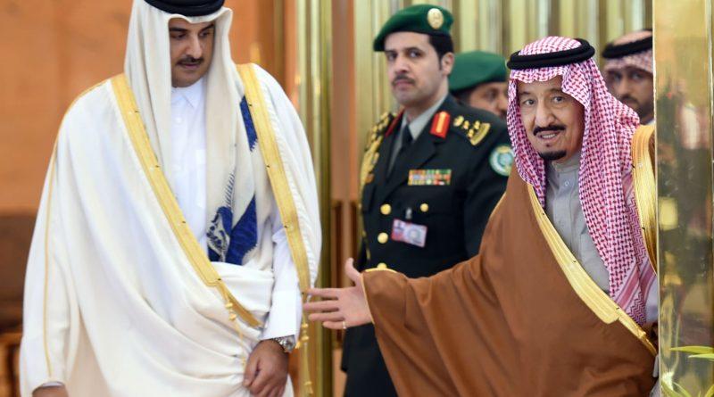 أمير قطر العاهل السعودي