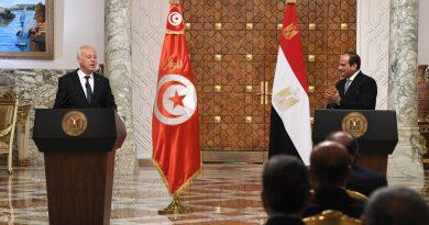 لتقى رئيس الجمهورية قيس سعيد بالرئيس المصري عبد الفتاح السيسي