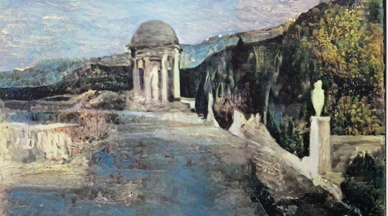 لوحة المناظر الطبيعية لفنان غير معروف