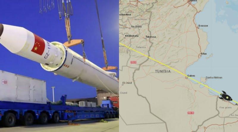 الصاروخ الصيني التائه يمر بأمان فوق الأراضي التونسية